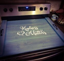 Farmhouse Kindness Matters Stove Cover - Choose Oven, Sink, Or Serving Tray