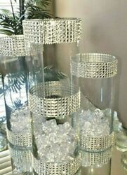 3 Pcs Wedding Centerpieces Vases Glass Cylinder Candle Holder Table Decorations
