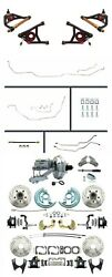 1964-1972 A Body 9 Chrome Booster Control Arms Disc Brake Kit And Line Kit