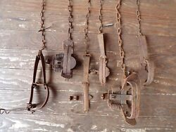 Lot Vintage Antique Victor Newhouse Triumph Trap Fur Cabin Hunting Outdoor Decor