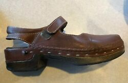 Wolky Brown Leather Clogs. Cute Size 42 $39.99