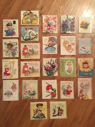 Lot Of 23, Vintage Assorted, Get-well Greeting Cards, Rare, Vanity Fair.etc.