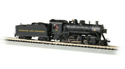 Bachmann 51353 N Scale 2-8-0 Dcc Econami Sound Value Norfolk And Western 722