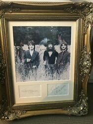 Beatles Picture Signed Matted Mounted In A Gold Ornate Frame