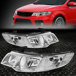 FOR 10 13 FORTE KOUP CHROME HOUSING CRYSTAL LENS HEADLIGHT REPLACEMENT HEAD LAMP $139.88