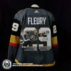 Marc-andre Fleury Signed Jersey Art Edition The Flying Save Hand-painted Las V