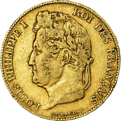 [486181] Coin France Louis-philippe 20 Francs 1840 Lille Ef40-45 Gold