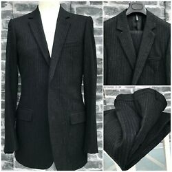 Ultrarare And Gorgeous Dior Homme Aw03 Luster Hedi Slimane Flannel Pinstripe Suit