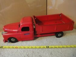 Vintage Pressed Steel, 20 Structo Toys Dump Truck Semi With Fireball Engine.