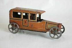 Antique Germany Fischer Limousine Auto Car Tin Litho Toy Penny Toy