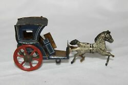 Antique Germany Meier Fischer Penny Toy Handsome Cab Coach Wagon Tin Litho