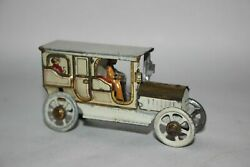 Antique Early Fischer Meier Penny Toy Limousine Taxi Car Tin Litho Toy