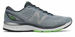 New Balance Men's 880v9 Shoes Grey with Blue & Green $47.00