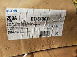 Eaton Dt464ugk Cutler Double Throw 200amp 600v Safety Switch Disconnect New