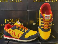 Polo Oryion-ii Sneakers Navy/yellow/red Big Kids Gs All Sizes New