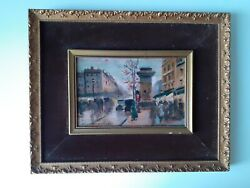Edouard Cortes Antique 19th Century Oil Painting Impressionist Framed