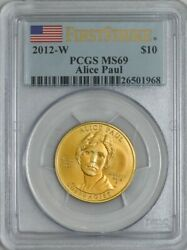 2012-w 10 Alice Paul First Strike Spouse Gold Ms69 Pcgs 931842-31