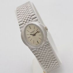 Baume And Mercier 60s Lady 18 Kt White Gold Manual Winding Serviced