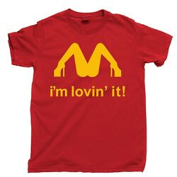 McDonalds I#x27;m Loving It Tee New Red Funny T#x27;shirt up to 5x