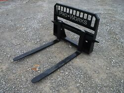 48 Long 5,500 Pound Rated Pallet Forks Attachment Fits Bobcat Skid Steer