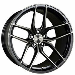 4 21 Staggered Stance Wheels Sf03 Gloss Black Tinted Machined Rims B1