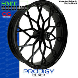 Smt Machining Prodigy Gloss Black Front Wheel Harley Touring Bagger 21