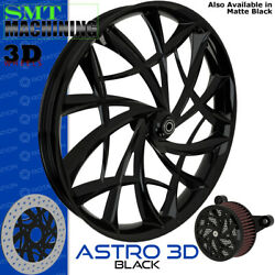 Smt Machining Astro 3d Gloss Black Front Wheel Harley Touring Bagger 21