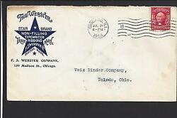 Chicago, Illinois Cover,1904. The Webster, Star Brand,typewriter Ribbons.