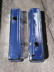 Vintage After-market Small Block Chevy Valve Covers Set - 1970 305