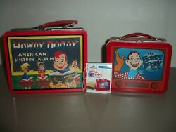 Lot Of 2 Vintage 1998 Howdy Doody Large And Small Tin Lunch Boxes1 Hallmark