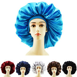 Adjustable Home Salon Long Hair Care Satin Bonnet Unisex Cap Night Sleeping Cap