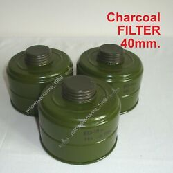 6 Pcs Nbc/cbrn New Charcoal Filter 40mm For Soviet Russian Military Gas Mask Pmg