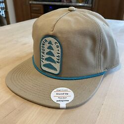 Patagonia Olg Growth Stand Up Hat - New With Tags - Mojave Khaki - Spring 2017
