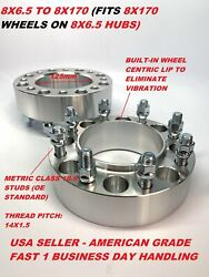 2pc 2 Hubcentric Wheel Adapters 8x165.1 8x6.5 To 8x170 14x1.5 Studs Spacers