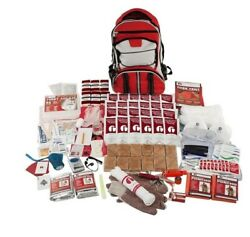 2 Person Elite Emergency Backpack Survival Kit With Food And Water Red