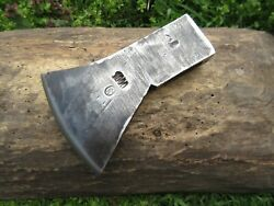 Vtg Old Very Rare 1.98 Lbs Marked Crown Axe Head Tomahawk Hiking Hatchet Tool