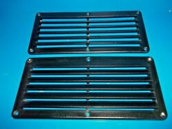 2 Sea Dog 5 Louver Vents 10-1/4l X 5 Black Plastic 6 Hole Pattern