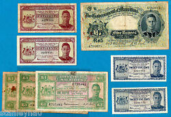 Mauritius Kgvi 25 Cents 50 Cents 1 Rupee Rs 5 Rare Issues Choose Your Note
