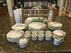 Vintage Floral Eclipse - 8 Placesettings By Mikasa W/accessories