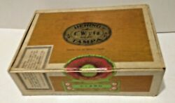 Vtg 1950's Bering Cigar Box From Tampa Florida Usa Import Tobacco Leaf_10x8x2