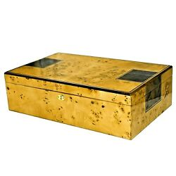 175 Count Locking Cedar Cigar Humidor W/ Humidifier And Hygrometer - Toulouse175