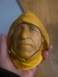 Bosson Vintage Heads Chalk Ware Lot Of 6 With One Bonus Duplicate