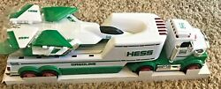 New Hess 2010 Toy Truck And Jet - Lights, Sounds, Led Runway And Launch Ramp