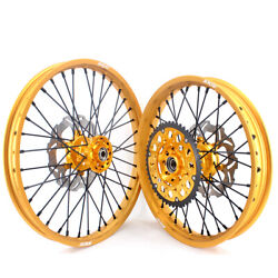 Kke 21/19 Mx Motorcycle Wheels Gold Rims Fit For Suzuki Rm125 Rm250 1996-2000