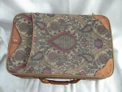 Hartmann Tapestry 2 wheeled Leather Trimmed 22 Inch Suitcase