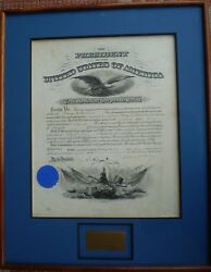 President William Mckinley Signed Document 6/1/1898 Fine, Unfolded Condition