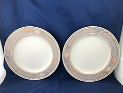 Sets Of 2 Dinner Plates 11 Meadow Sun Cac02 By Mikasa