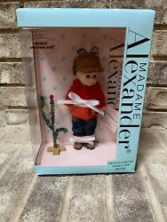 Madame Alexander Peanuts Christmas Jack Retired 8 Doll Blonde Boy And Tree New