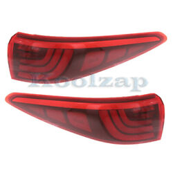 For 17-19 Sportage Outer Led Taillight Taillamp Rear Brake Light Lamp Set Pair