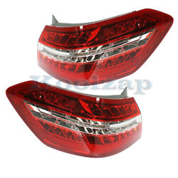 10-13 Benz E-class Outer Led Taillight Taillamp Rear Brake Light Lamp Set Pair